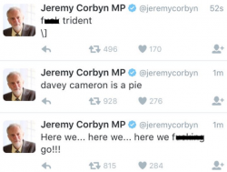 Hacker-Tweets über Jeremy Corbyns Konto (Screenshot: ZDNet.com)