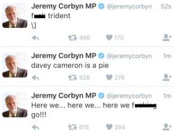 Hacker-Tweets über Jeremy Corbyns Konto (Screenshot: ZDNet.com)