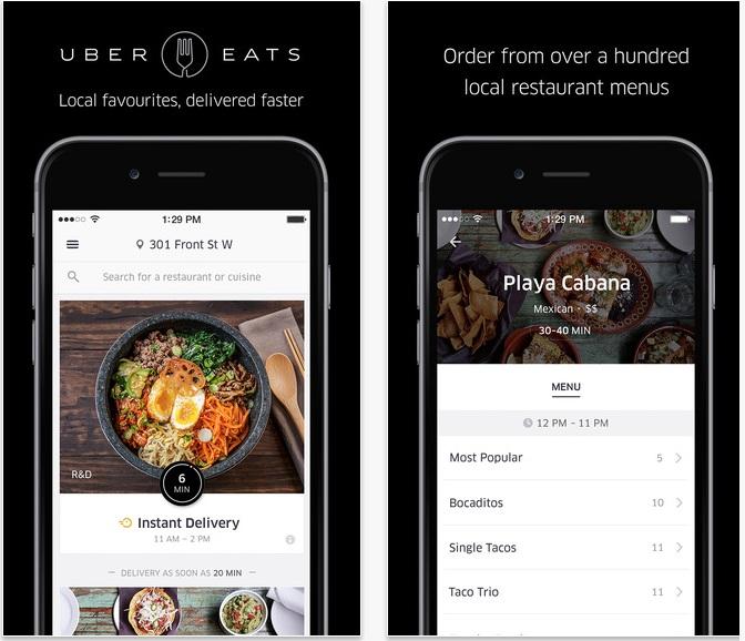 UberEats für iOS (Bild: Uber)