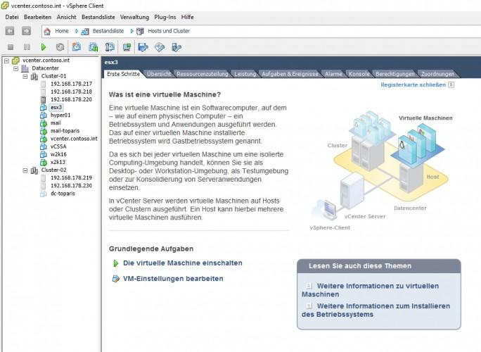 Auch für kleine Unternehmen, kann die Virtualisierung deutliche Mehrwerte mit sich bringen (Screenshot: Thomas Joos).