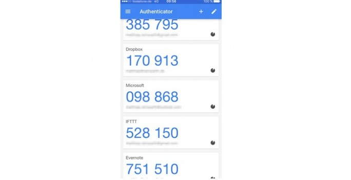 Google-Authenticator (Screenshot: Matthias Reinwarth)