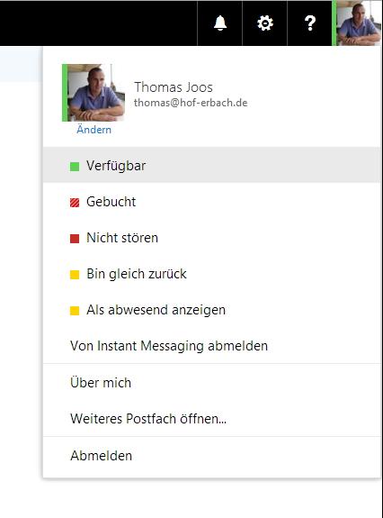 Auch in Outlook Web App von Office 365 und Exchange können Anwender mit Skype for Business arbeiten (Screenshot: Thomas Joos).
