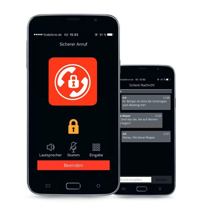 vodafone erg nzt secure call app um ende zu ende. Black Bedroom Furniture Sets. Home Design Ideas