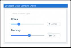 Wahl eines Custom Machine Type (Bild: Google)