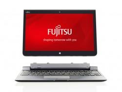 Mit dem optionalem Tastaturdock lässt sich das Stylistic Q736 auch als Notebook verwenden (Bild: Fujitsu).