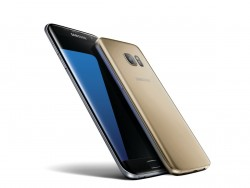 Samsungs Galaxy S7 Edge in Schwarz und Galaxy S7 in Gold (Bild: Samsung)