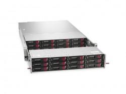 Die 2U-NAS-Appliance StoreEasy 1650 Expanded bietet Platz für bis zu 28 Laufwerke und maximal 224 TByte internen Speicher (Bild: HPE).