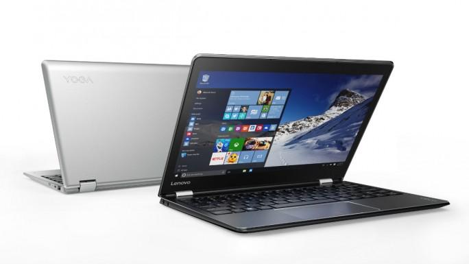 Die 11-Zoll-Version des Yoga 710 gibt es in Silber und Schwarz (Bild: Lenovo).