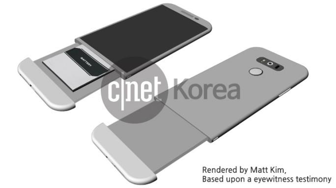 Trotz Metallgehäuse soll sich der Akku des LG G5 auswechseln lassen (Bild: CNET Korea).