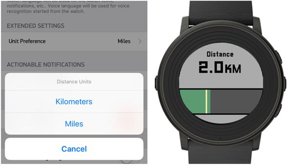 Pebble Health zeigt zurückgelegte Strecken jetzt auf Wunsch auch in Kilometern an (Bild: Pebble).
