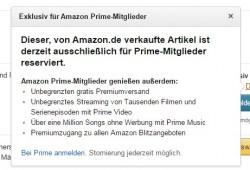 Exklusiv für Prime-Mitglieder (Screenshot: ZDNet.de)