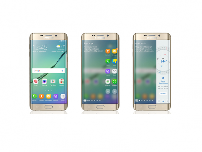 Das Galaxy S6 Edge erhält mit dem Update auf Android 6.0 Marshmallow neue Edge Panels (Bild: Samsung).