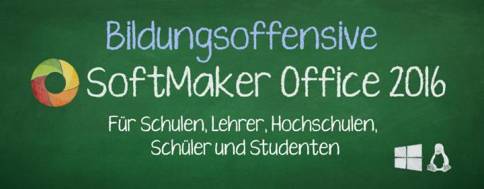 SoftMaker stellt im Rahmen seiner Bildungsoffensive die Büropakete für Windows und Linux Bildungseinrichtungen kostenlos bereit  (Bild: SoftMaker).