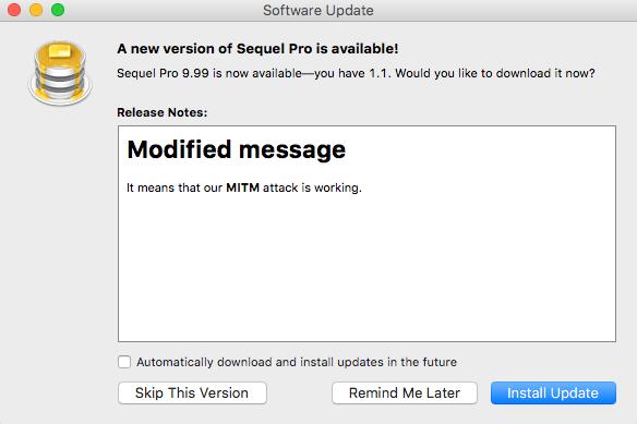 Viele Mac-Apps sind wegen Lücken in Sparkle anfällig für Man-in-the-Middle-Angriffe (Bild: Radek/Vulnerable Security).