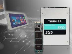 Toshiba bietet die SG5-SSDs als 2,5-Zoll- und M.2-Versionen an (Bild: Toshiba).