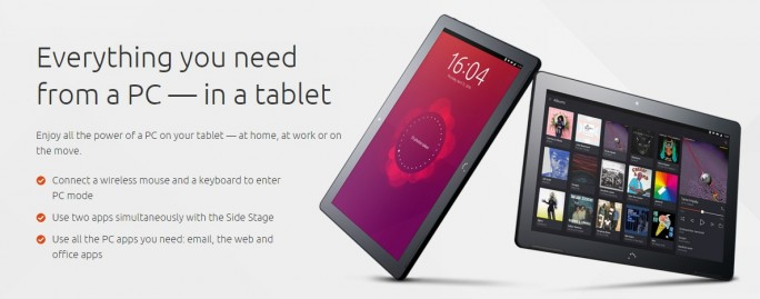 BQ Aquaris M10 Ubuntu Edition im Tabletmodus (Bild: Canonical)