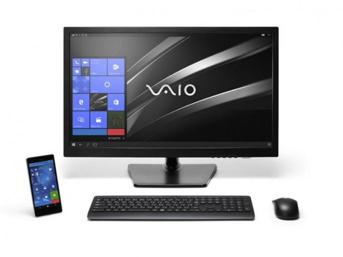 Mittels Continuum wird das Vaio Phone Biz zum PC-Ersatz (Bild: Vaio)