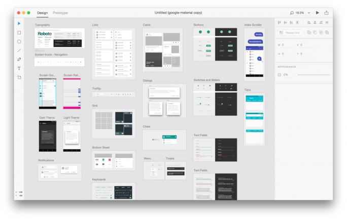 """Adobe XD liefert mehrere vorgefertigte """"UI Kits"""" zur Anwendungsentwicklung für Android, iOS und Windows mit (Bild: Adobe)."""
