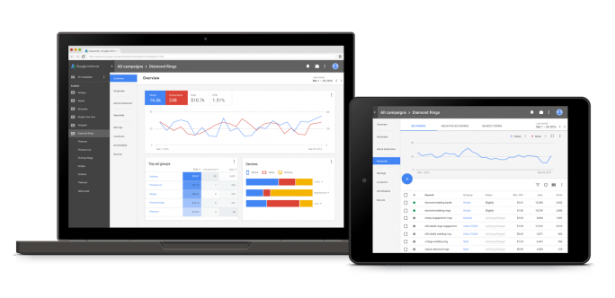 AdWords im Material Design (Bild: Google)