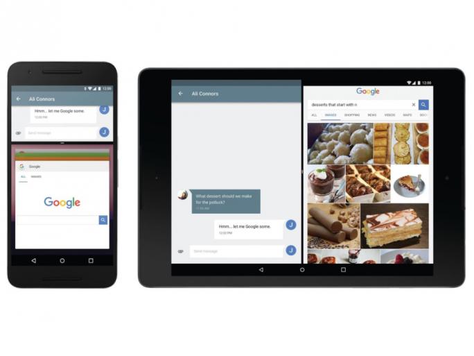 Eine Neuerung von Android N ist ein Multi-Window genannter Split-Screen-Modus (Bild: Google).