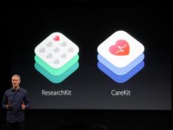 Apple-COO Jeff Williams stellte am 21. März CareKit und das erweiterte ResearchKit vor (Screenshot: CNET.com).