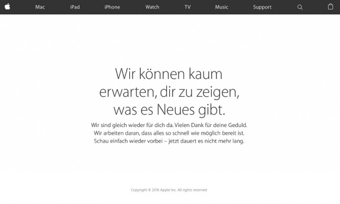 Apple macht den Laden dicht (Screenshot: ZDNet.de).