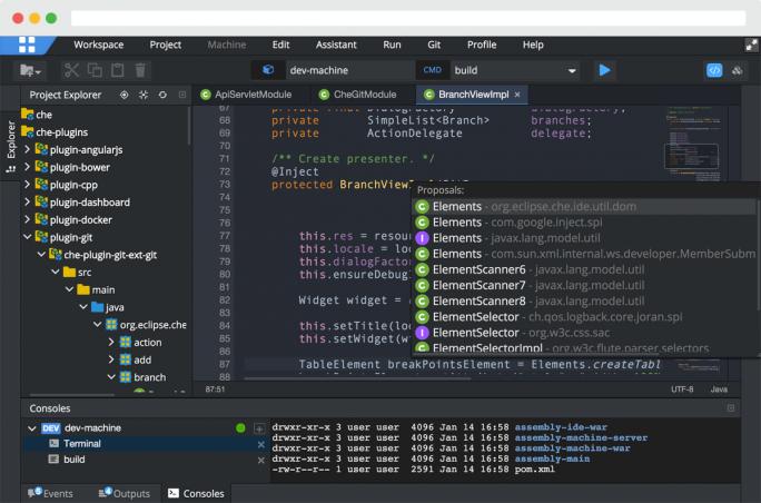 Das jüngste Eclipse-Release Che arbeitet mit Microsofts Visual Studio zusammen und andersherum (Bild: Eclipse Foundation).