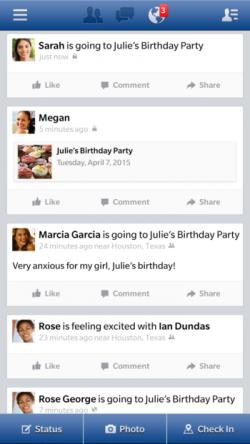 Facebook Web-App für BB 10 (Bild: Blackberry)