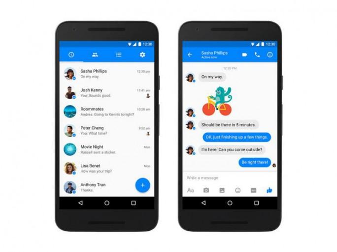 Der neue Facebook Messenger nutzt Googles Material Design (Bild: Facebook).