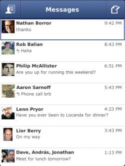 Facebook stellt den Blackberry-Support für seinen Messenger Ende des Jahres ein (Bild: Facebook).
