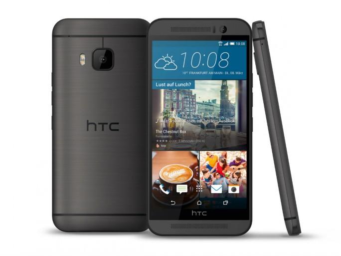 Äußerlich unterscheidet sich das One M9 (Prime Camera Edition) nicht vom leistungsfähigeren Vorjahresmodell One M9 (Bild: HTC).