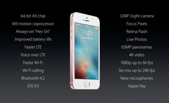 Übersicht iPhone SE (Bild: CNET.com)