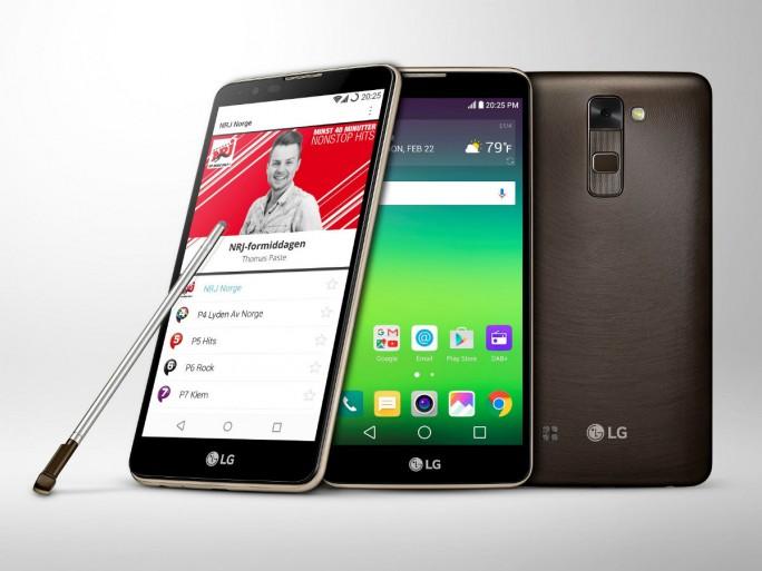 Das LG Stylus 2 unterstützt als erstes Android-Smartphone DAB+ (Bild: LG).