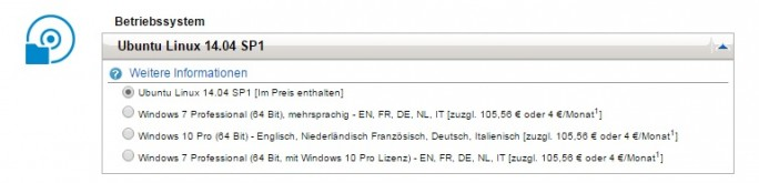 Linux-Option für Precision-Workstations (Screenshot: ZDNet.de)