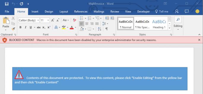 Bei entsprechender Einstellung blockiert Office 2016 Makros und verhindert eine erneute Aktivierung durch den Anwender (Bild: Microsoft).