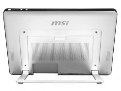 Der integrierte Standfuß lässt sich variabel verstellen und erlaubt so verschiedene Nutzungsmodi (Bild: MSI).