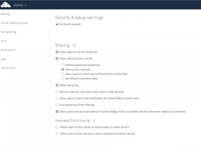 In ownCloud 9 können Anwender Dokumente besser zwischen verschiedenen OwnCloud-Infrastrukturen teilen (Screenshot: Thomas Joos).