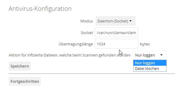Über den Administrator-Bereich steuern Administratoren auch den Virenschutz der gespeicherten Dateien (Screenshot: Thomas Joos).