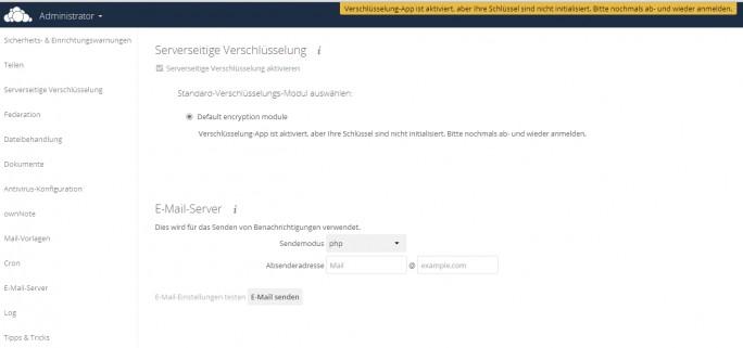 Nach der Aktivierung der Verschlüsselung müssen sich Anwender ab- und wieder anmelden (Screenshot: Thomas Joos).