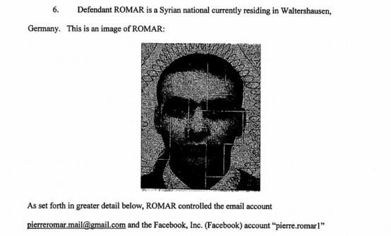 Peter oder Pierre Romar empfing von Deutschland aus Erpressungsgelder (Bild: Department of Justice).
