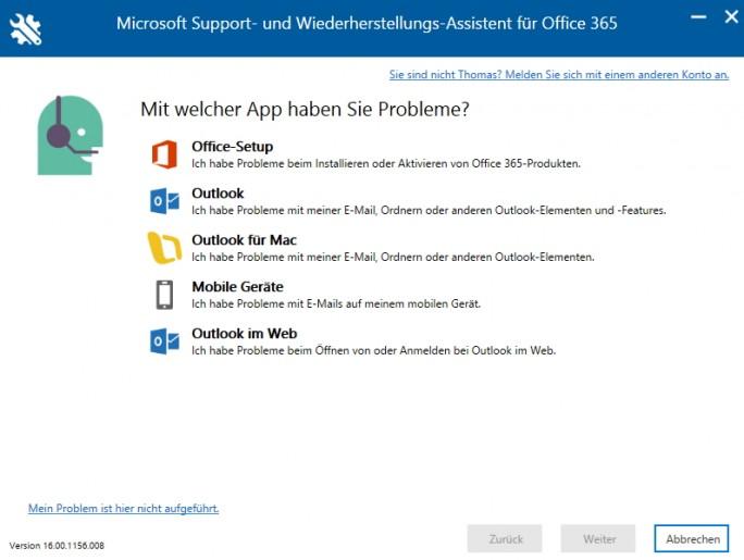 Die Installation von Microsoft Office 365 Support and Recovery Assistant ist in wenigen Sekunden abgeschlossen (Screenshot: Thomas Joos).