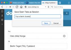 Nutzer können nun etwa Sitzungen mit mehreren Tabs für berufliche und private Zwecke anlegen (Bild: Vivaldi).