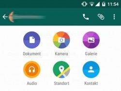 WhatsApp erlaubt jetzt auch den Versand von Dokumenten per Anhang - zunächst jedoch beschränkt auf PDFs (Screenshot: ZDNet.de).