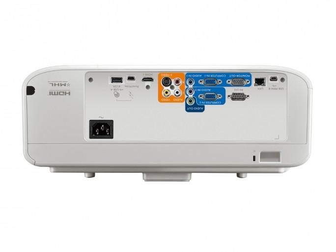 Der neue Ultra-Kurzdistanzbeamer bietet zahlreiche Anschlussoptionen (Bild Benq).