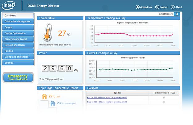Intel Data Center Manager: Exakte Überwachung von Energie- und Kühlungsbedarf im Rechenzentrum (Bild: Intel)
