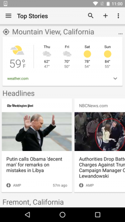 AMP-Karussell in Google News (Screenshot: Google)