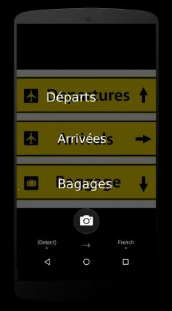 Translator für Android erkennt und übersetzt Text in Bildern (Screenshot: Microsoft)