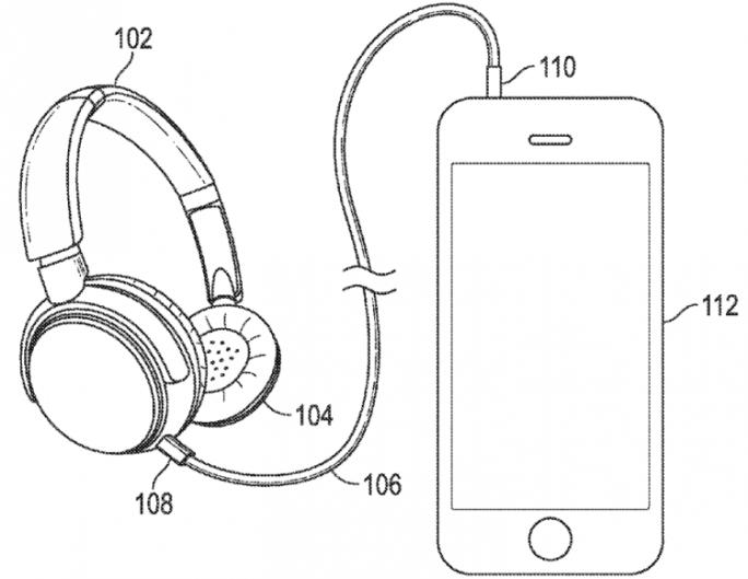 Apple beschreibt in einem Patentantrag einen Funkkopfhörer mit Kabelverbindung (Bild: Apple/USPTO).