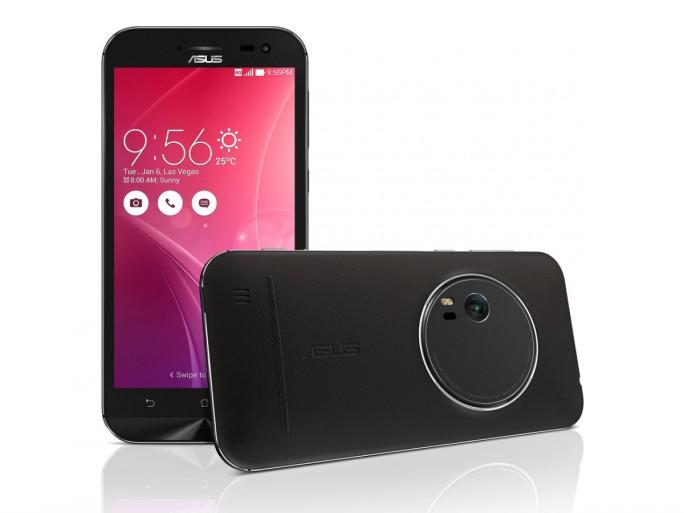 Das ZenFone Zoom  besitzt eine 13-Megapixel-Kamera mit optischem Dreifachzoom und Bildstabilisator, 10-Linsen-System, Laserautofokus sowie Dual-LED-Blitz (Bild: Asus).