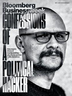 Andrés Sepúlveda auf dem Cover von BusinessWeek (Bild: Bloomberg)